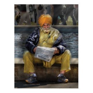 Americana - Casually reading a newspaper Postcards