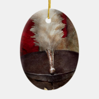 Americana - Celebrating the Marching band Double-Sided Oval Ceramic Christmas Ornament