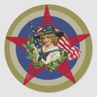 Americana Classic Round Sticker