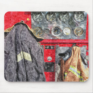 Americana Fire Truck Mouse Pad