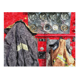 Americana Fire Truck Postcard