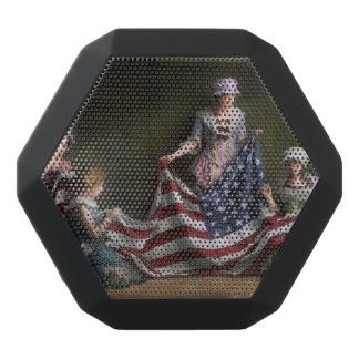 Americana - Flag - Birth of the American Flag 1915 Black Bluetooth Speaker