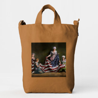 Americana - Flag - Birth of the American Flag 1915 Duck Bag