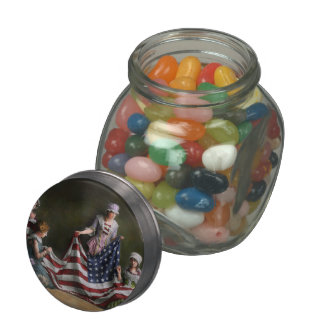 Americana - Flag - Birth of the American Flag 1915 Glass Candy Jars