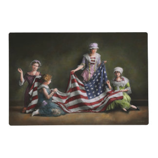 Americana - Flag - Birth of the American Flag 1915 Placemat