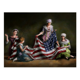 Americana - Flag - Birth of the American Flag 1915 Postcard