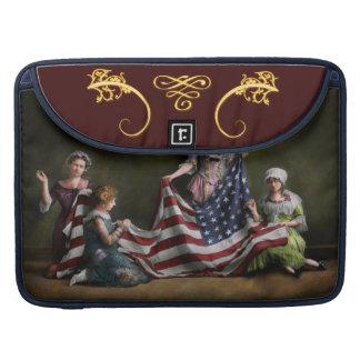 Americana - Flag - Birth of the American Flag 1915 Sleeves For MacBooks