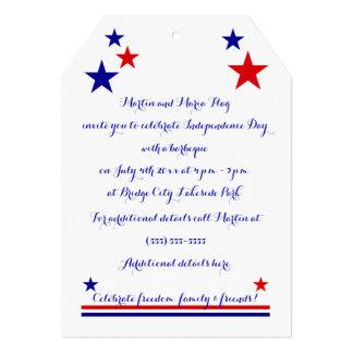 Americana Flag Log Cabin Customizable Card