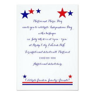 Americana Flag Log Cabin Pattern Customizable Invitations