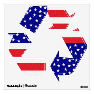 Americana Flag Patchwork Pattern Patriotic Wall Skin