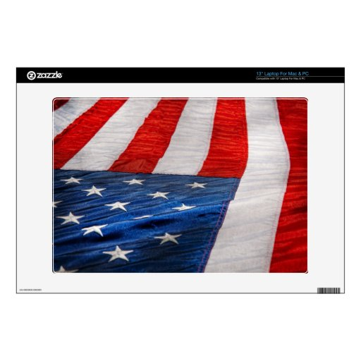 """Americana - Flag - Stars and Stripes 13"""" Laptop Decals"""