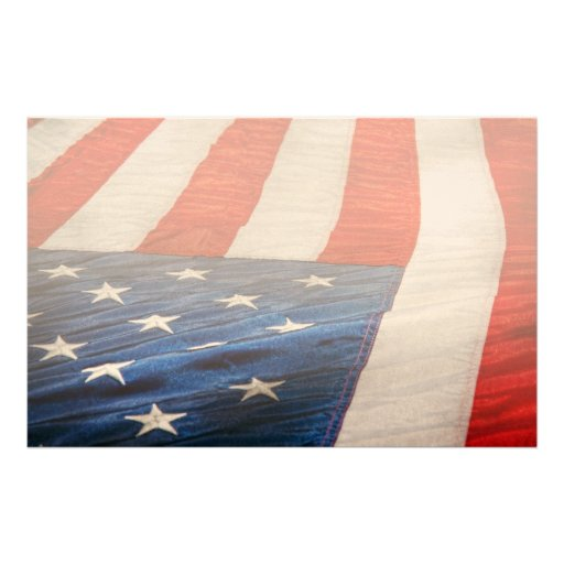 Americana - Flag - Stars and Stripes Personalized Stationery