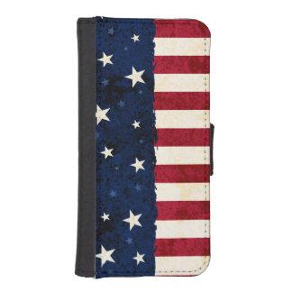 Americana Folk Stars & Stripes Patriotic iPhone SE/5/5s Wallet