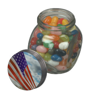 Americana - Fort Hood TX - Unfolding the flag 1944 Jelly Belly Candy Jar