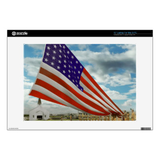 Americana - Fort Hood TX - Unfolding the flag 1944 Laptop Decal