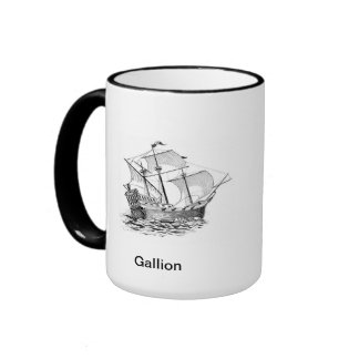 Americana:  Frigate and Gallion Ringer Mug
