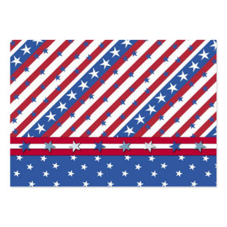 Americana Gift Tag Business Card Template