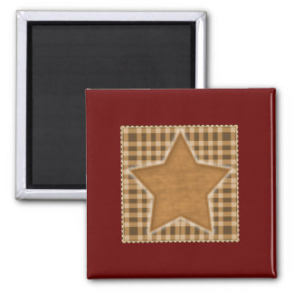 Americana Gold Star Square Magnet 2x2