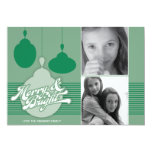 Americana Green Ornament Holiday Photo Card