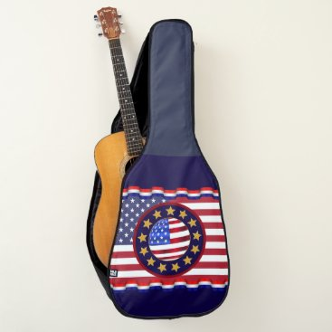 USA Themed Americana Guitar Case