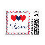 Americana Hearts Postage Stamp