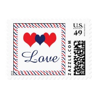 Americana Hearts Postage Stamp