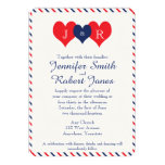 Americana Hearts Wedding Invitation