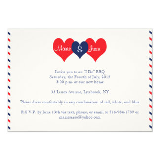 Americana Hearts Wedding Marie Juan v2 Card