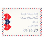 Americana Hearts Wedding Save the Date Card