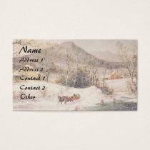 Americana Horse Sleigh Victorian Business Card