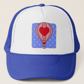 Americana Hot Air Balloon Red White Blue Hat