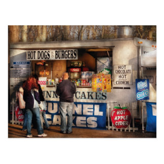 Americana - Hot dogs & Funnel cakes Postcard