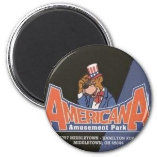 Americana Lesourdesville Amusement Park Monroe OH 2 Inch Round Magnet