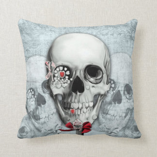Americana lollipop skull throw pillow. throw pillow