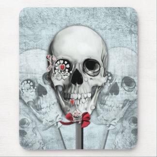Americana lollipop skulls mouse pad