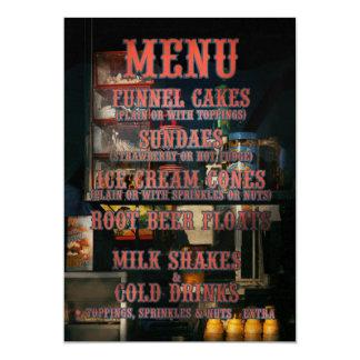 Americana - menú invitación 12,7 x 17,8 cm