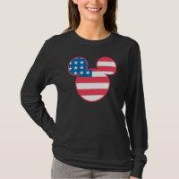 Americana Mickey Mouse Head Flag Icon T-Shirt