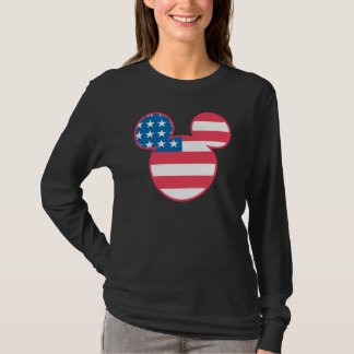 Americana Mickey Mouse Head Flag Icon T-Shirt