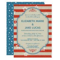 Americana Patriotic Wedding Invitation