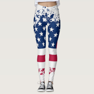 Americana Patriotism Flag Summer Leggings
