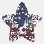 Americana Calcomanías Forma De Estrellas Personalizadas