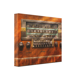 Americana - Radio - Remember what radio was like Gallery Wrapped Canvas