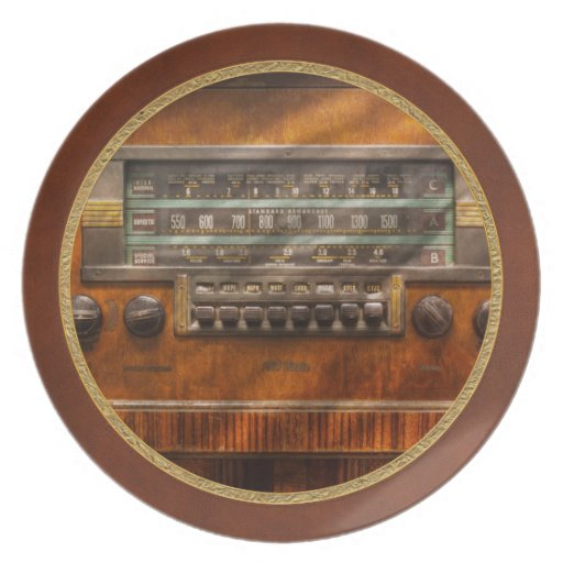 Americana - Radio - Remember what radio was like Party Plate