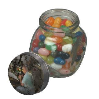 Americana - Radio - The conspiracy expert - 1948 Glass Candy Jars