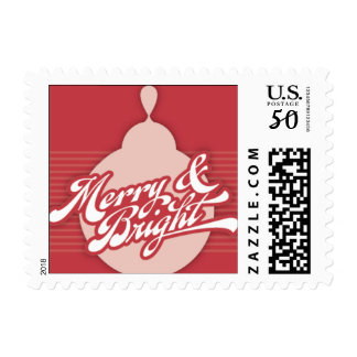 Americana Red Ornament Holiday Stamp