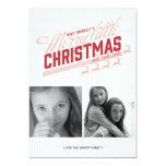 Americana Red Reindeer Holiday Photo Card