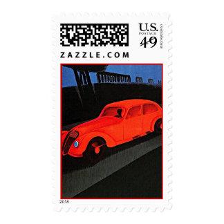Americana Retro Vintage 1930 s Road Trip Stamps