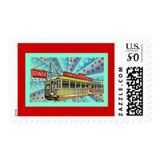 Americana Retro Vintage Mid-Century Diner Stamps