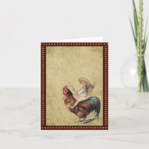 Americana Rooster- Prim Lil Note Cards