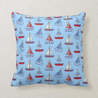 Americana Sailboat Pillow